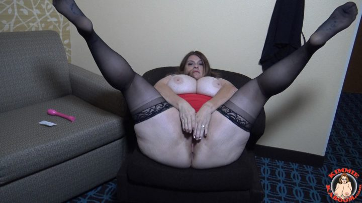 Kimmie KaBoom - Stepson Spying on Mommy Alone Time