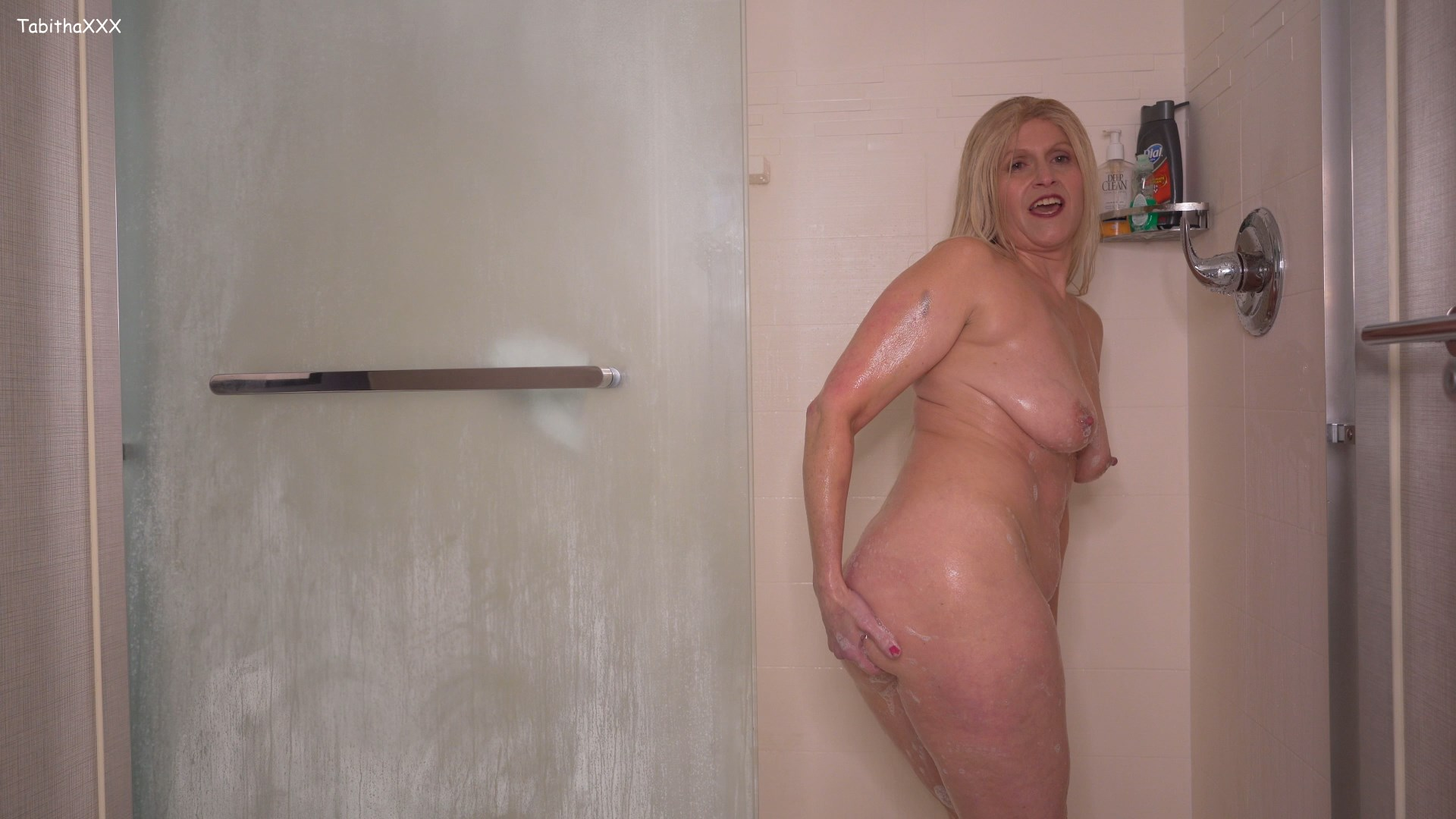 TabithaXXX - Slut MomSon BJ Shower Video for Buddies