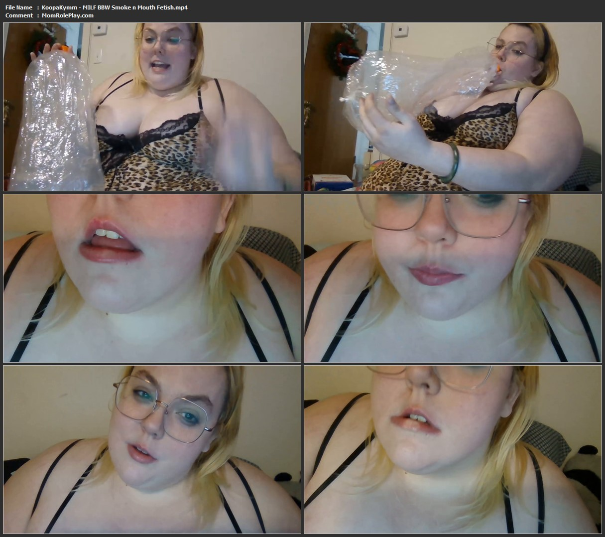 KoopaKymm - MILF BBW Smoke n Mouth Fetish