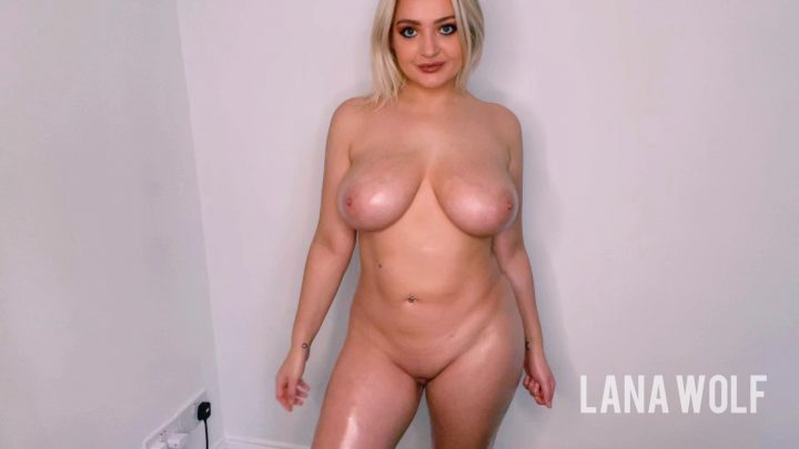 Lana Wolf - Help Mommy oil her HUGE boobs