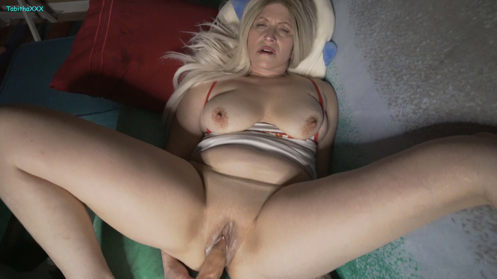TabithaXXX - MomSon Movie Night Turns Naughty