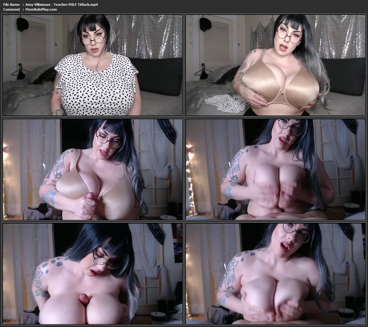 Amy Villainous - Teacher MILF Titfuck