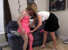Spoiled Mean MILFs - Son caught with sissy clothes