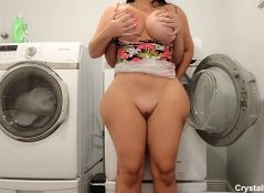 Crystal Lust - Fucked Stepmom In The Dryer