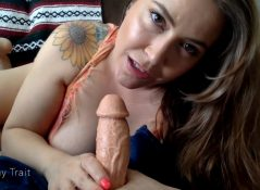 Penny Trait - Footjob  BJ From Mom