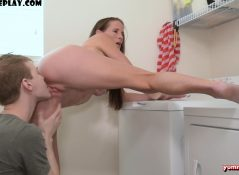 Yummysofie - Sofie Marie - Step Son Cums in the Laundry Room